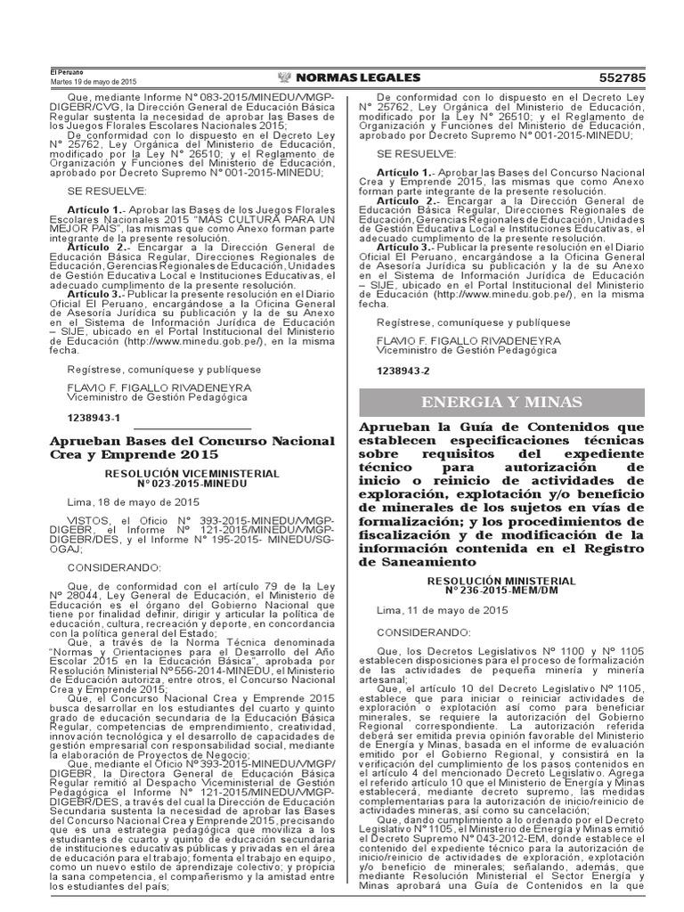 R.M. 236-2015-MEM-DM