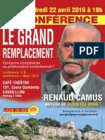 Conférence Renaud Camus à Cavaillon