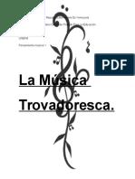 La Música Trovadoresca