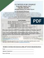 4-20-16 Women United for Change Flyer
