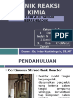 Teknik Reaksi Kimia (Reaktor Alir Tangki Berpengaduk)