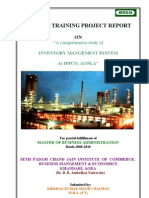 """A comprehensive study of  INVENTORY MANGEMENT SYSTEM  At IFFCO, AONLA"""