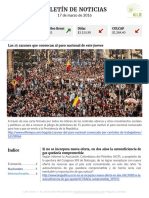 Boletín de noticias KLR 17MAR2016