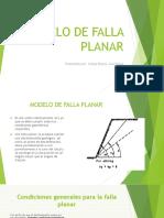 Modelo de Falla Planar