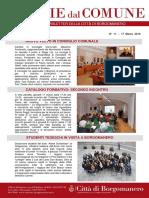 Notizie Dal Comune di Borgomanero del 17 Marzo 2016
