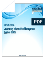 Introduction to LIMS & 21 CFR Part 11