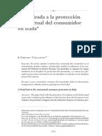 Una Mirada a La Proteccion Contractual Del Consumidor en Italia