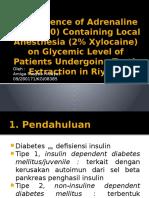 pengaruh anestesi lokal yang mengandung adrenalin terhadap kadar gula darah