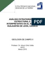 Análisis Estratigráfico, Estructural e Interpretativo en el área de Huajuapán de León, Oaxaca
