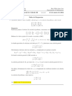 Corrección Segundo Parcial de Cálculo III, 16 de marzo de 2016