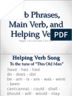 Verb Phrases Main and Helping Verbs