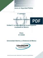 Unidad 2. La Importancia de La Participacion Ciudadana en Mexico