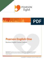 PearsonEnglishOne-ICSI-CourseContent