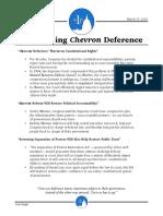 Ending Chevron Deference