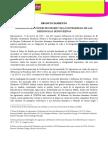 PRONUNCIAMIENTO /  IM-DEFENSORAS EXIGE PROTEGER VIDA E INTEGRIDAD DE LAS DEFENSORAS HONDUREÑAS 17032016 Esp