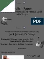Trabalho de Inglês - Conditional and Passive Voice