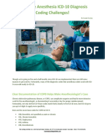 Overcome Anesthesia ICD-10 Diagnosis Coding Challenges!