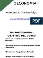 Clases Microeconomia economicas UBA
