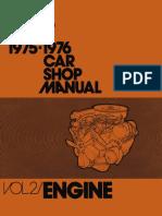 1975-76 Ford Car Shop Manual Volume II Engine