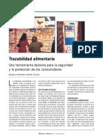 Artículo, trazabilidad alimentaria