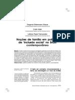 Noçoes de Familia Em Politicas de Inclusao Social