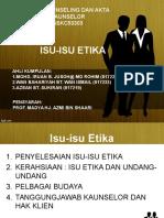 ISU-ISU ETIKA KAUNSELING