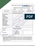 Formulario de Inscripción Curso ITO Concepcion, Abril 2016
