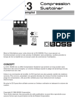 Boss Compression Sustainer Cs 3 Mode d Emploi Fr 44041