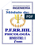PFRH - PSICOLOGIA 4º SEC - I BIMESTRE