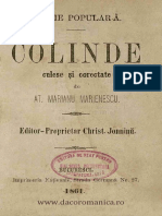 Atanasie Marinescu Colinde