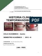 Historia Clinica Temporomandibular 2013-III