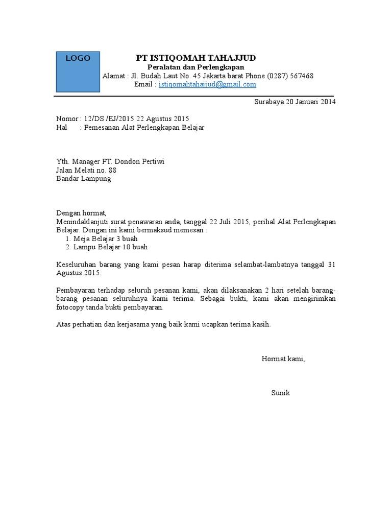 32+ Contoh surat niaga pemesanan barang elektronik terbaru terbaru