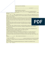 Union de Hecho Modelo de Solicitud Notarial
