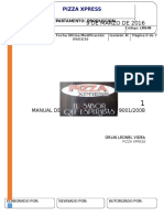 Manual de Procedimientos Pizza Xpress