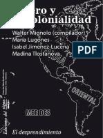 Walter Mignolo (Comp) - Genero y Descolonialidad