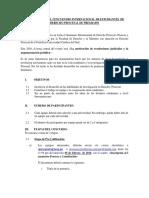 Convocatoria Al i Encuentro Internacional de Estudiantes de Derecho Procesal de Pregrado