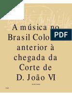 CROWL, H. - A Musica No Brasil Colonial Anterior a Chegada Da Corte de D.joao VI