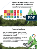 Implementing the National Commitments to 2030 Agenda for Sustainable Development