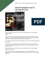 The IRS Criminal Investigators and Al Capone