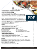 Lista de Precios y de Menues de Lunch