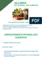 Aula de Reaproveitamento de Alimentos-On Line