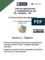 Desarrollo de apps móviles con C#-Xamarin-VS - S2