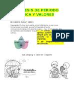 Sintesis de Periodo Etica y Valores