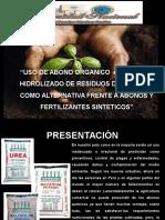 Presentación Residuos Pescado Abono Organico