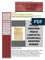 Adolf Hilter Dropped Peace Leaflets