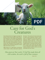 Care for God's Creatures