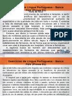 Português Exercícios FGV - Evolução
