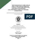 Pengaruh Budaya Organisasi,Keadilan Organisasi Thd OCB Dg Komitmen Organisasi Sbg Intervening