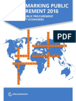 Benchmarking Public Procurement 2016
