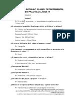 Guía Para El Segundo Exámen Departamental de Práctica Clínica IV